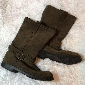 Coach Brown Leather Buckle 8.5 Boots